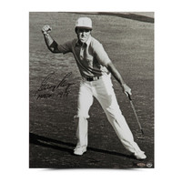 GARY PLAYER AUTOGRAPHED VICTORY CELEBRATION PHOTO UDA LE 25