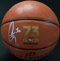 STEPHEN CURRY Autographed Record Breaking Logo Spalding Basketball FANATICS