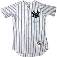 GARY SANCHEZ Signed New York Yankees Authentic Pinstripe Jersey (Signed on Front) STEINER