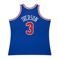 ALLEN IVERSON Autographed Mitchell & Ness 1996-97 Blue 76ers Jersey UDA