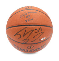 ALLEN IVERSON & SHAQUILLE O'NEAL Autographed & Inscribed Spalding Basketball UDA LE 30