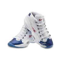 ALLEN IVERSON Autographed Reebok Question Mid Shoes With Blue Toe UDA LE 30