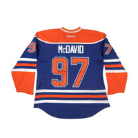 CONNOR MCDAVID AUTOGRAPHED EDMONTON OILERS AUTHENTIC REEBOK BLUE JERSEY