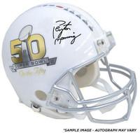 "PEYTON MANNING Autographed Super Bowl ""On The 50"" Proline Helmet FANATICS"