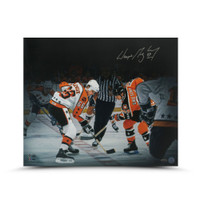 "WAYNE GRETZKY Autographed ""All Star Faceoff"" 20 X 24 UDA"