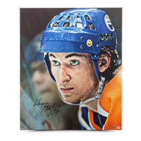 "WAYNE GRETZKY Autographed ""Up Close & Personal"" 20 x 24 Canvas UDA"