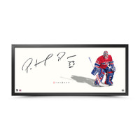 "PATRICK ROY Autographed The Show  ""Stand-Up"" 46 x 20 Framed photo UDA"