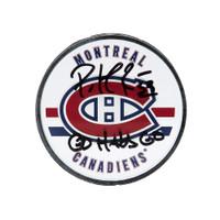 PATRICK ROY Autographed & Inscribed Montreal Canadiens Acrylic Puck UDA