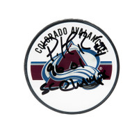 PATRICK ROY Autographed & Inscribed Colorado Avalanche Acrylic Puck UDA