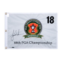 TIGER WOODS Autographed 2006 PGA Championship Pin Flag UDA  LE 500
