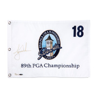 TIGER WOODS Autographed 2007 PGA Pin Flag UDA LE 500