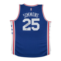 BEN SIMMONS autographed 76ers Away Jersey UDA