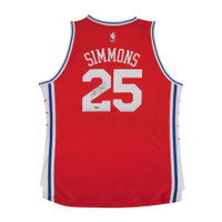 BEN SIMMONS Autographed 76ers Alternate Jersey UDA