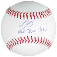 COREY SEAGER Los Angeles Dodgers Autographed Baseball with MLB Debut 9/3/15 Inscription FANATICS