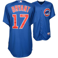 KRIS BRYANT Chicago Cubs Autographed Blue Authentic Jersey FANATICS