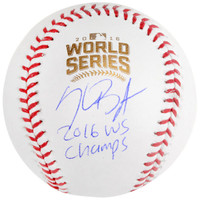 KRIS BRYANT Chicago Cubs 2016 MLB World Series Champions Autographed World Series Logo Baseball with 2016 WS Champs Inscription FANATICS