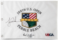 "TIGER WOODS Autographed 2000 US Open Inscribed ""15 Stroke Win"" Flag UDA LE 500"