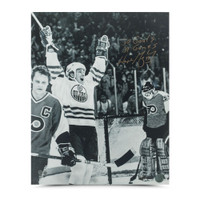 "WAYNE GRETZKY Autographed ""50 GOALS 39 GAMES CELEBRATION"" 16 x 20 Photo UDA"