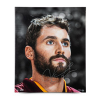 "KEVIN LOVE Autographed ""UP CLOSE & PERSONAL"" 20 x 24 Canvas Photo UDA LE 25"
