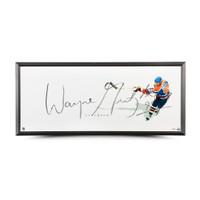 """WAYNE GRETZKY Autographed EdmontonTOGRAPHED EDMONTON OILERS """"THE SHOW"""" 46 X 20 DISPLAY UDA"""