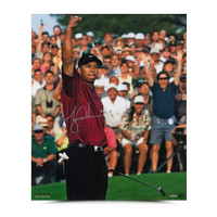 "TIGER WOODS Autographed ""2001 Masters"" 20 x 24 Photo UDA"