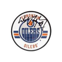 WAYNE GRETZKY Autographed Edmonton Oilers Acrylic Puck UDA