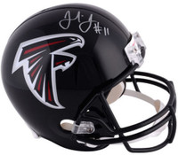 JULIO JONES Autographed Atlanta Falcons Full Size Helmet FANATICS