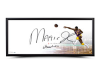 "MAGIC JOHNSON Autographed & Inscribed ""The Show"" 46 x 20 Framed UDA"