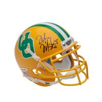 MARCUS MARIOTA Signed University of Oregon Yellow Schutt Mini Helmet UDA