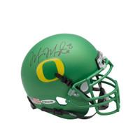 MARCUS MARIOTA Signed University of Oregon Apple Green Schutt Mini Helmet UDA