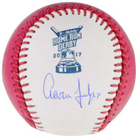 AARON JUDGE Signed Authentic 2017 Home Run Derby Moneyball Baseball FANATICS