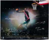 "LEBRON JAMES Hand Signed / Inscribed ""Flying"" 16 x 20 Photo UDA LE 25"