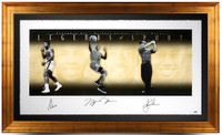 "ALI, JORDAN & WOODS Signed ""Legends of Sport"" Gold Framed Photo LE 500 UDA"