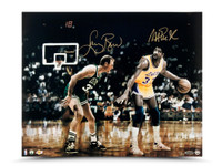MAGIC JOHNSON & LARRY BIRD AUTOGRAPHED MATCH UP 16 X 20 PHOTO LIMITED EDITION OF 33.