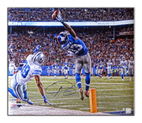 ODELL BECKHAM JR. Signed Metallic Paper Photo LE of 113 STEINER.