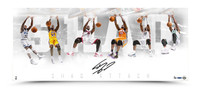 """SHAQUILLE O'NEAL AUTOGRAPHED """"SHAQ ATTACK"""" 36 X 15 PHOTO"""