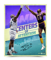 """SHAQUILLE O'NEAL AUTOGRAPHED """"CENTERS OF ATTENTION"""" 20 X 24 PHOTO."""