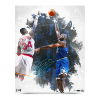 """SHAQUILLE O'NEAL AUTOGRAPHED """"BABY HOOK"""" 16X20 PHOTO."""