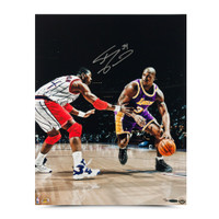 """SHAQUILLE O'NEAL AUTOGRAPHED """"POWER MOVE"""" 16 X 20 PHOTO."""