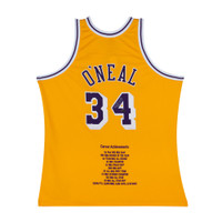 SHAQUILLE O'NEAL SIGNED & EMBROIDERED LOS ANGELES LAKERS AUTHENTIC JERSEY