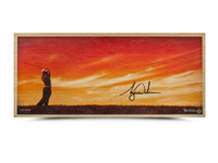 "TIGER WOODS AUTOGRAPHED ""PERFECTING THE CRAFT"" BAMBOO PRINT"