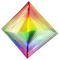 WIND TWISTER DECORATION SQUARE Shaped Rainbow Colors Garden Decor Outdoors bcg