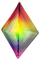 WIND TWISTER DECORATION DIAMOND Shaped Rainbow Colors Garden z
