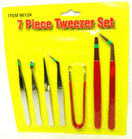TWEEZERS SET 7 DIFFERENT Hobby Tools Crafts Scale Modeling  New bcg