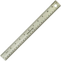 RULER STAINLESS STEEL FLEXIBLE Hobby Tool Scribing Scale Modeling Craft ct bcg
