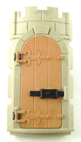 Playmobil 3666 CASTLE Parts Tower ROUND WALL DOOR Part Kings Knights z
