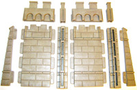 Playmobil 3666 Castle Parts 2 WALL EXPANSION SET 10 Pc Kings Medieval Knights bcg