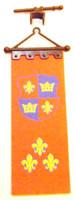 Playmobil 3666 Castle Parts BANNER FLEUR DE LIS FLAG Kings Medieval Knights bcg