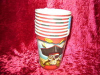 PIRATE PARTY PAPER CUPS 8 Pirates SKULL Bones 9oz New r