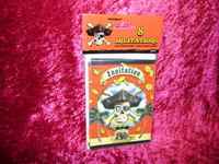 PIRATE PARTY INVITATIONS Envelopes Pirates SKULL New r